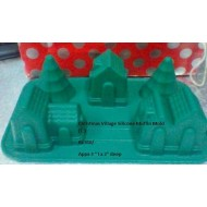 SI030 Christmas Village Silicone Muffin Mold (C)