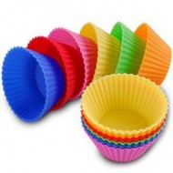 SI001 Silicon Round muffin moulds