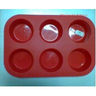 SI023e 6 Hole Silicone Muffin Mold