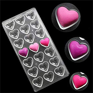 Chocolate Polycarbonate mold heart