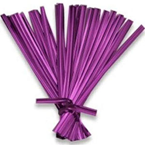 Chocolate wrapping ties Purple