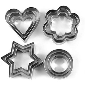 Cookie Cutters Steel Shape 12pc pack