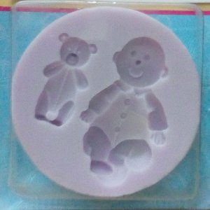 Baby and Teddy Silicon Mold