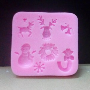 Christmas theme silicon mold