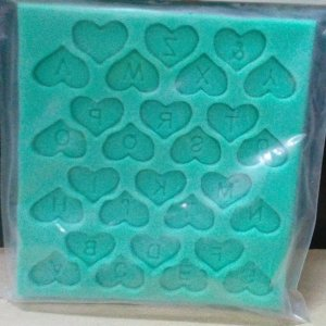 Alphabet heart mold