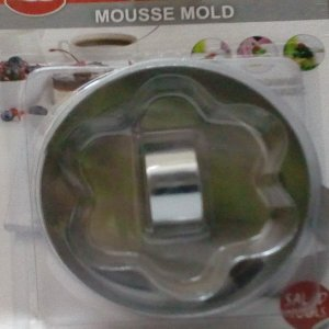 Metal mold for mousse and desserts