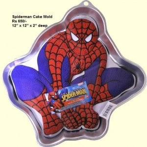 Spider Man Shape Cake Pan