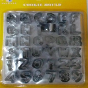 Alphabet and Number metal cutters