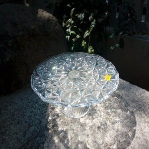 Glass display stand for pastries and cakestries a