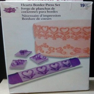 Hearts border stamp set